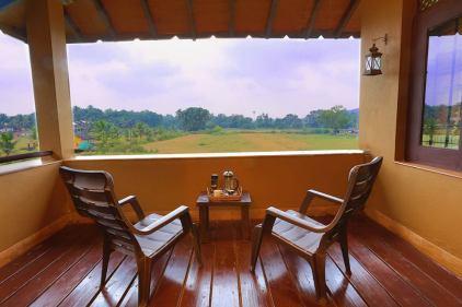 blue villa view