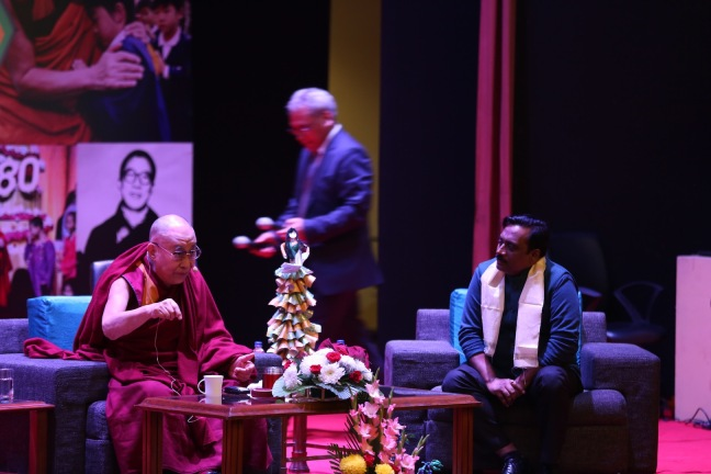His Holiness The Dalai Lama in conversation with Shantanu Mishra, Co-Founder and Executive Trustee Smile Foundation