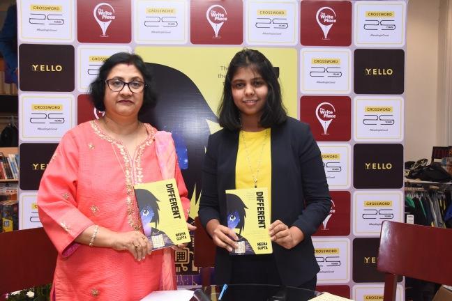 Arundhati Bhattacharya and Neeha Gupta at the book launch