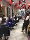 Demonstration of OlaPlex hair treatment at Affinity Express, Ghaziabad