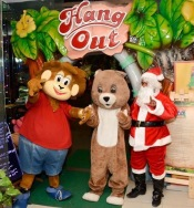 Santa with Monku and bear