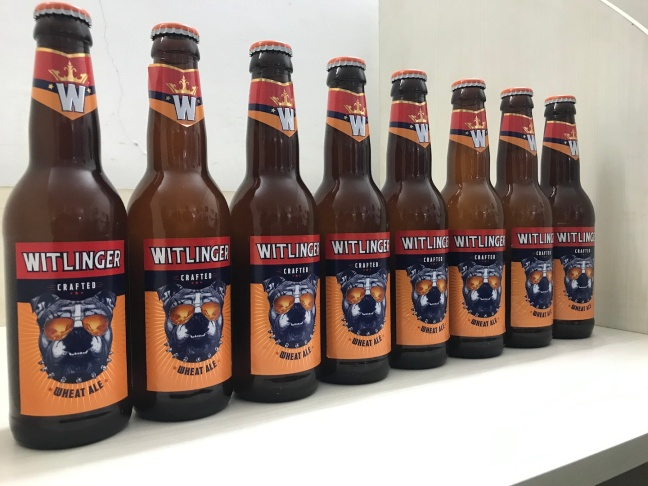 Witlinger beer with New Mascot